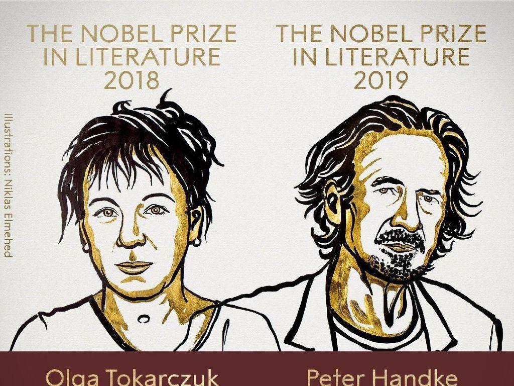Olga Tokarczuk dan Peter Handke Raih Nobel Sastra 2018 dan 2019