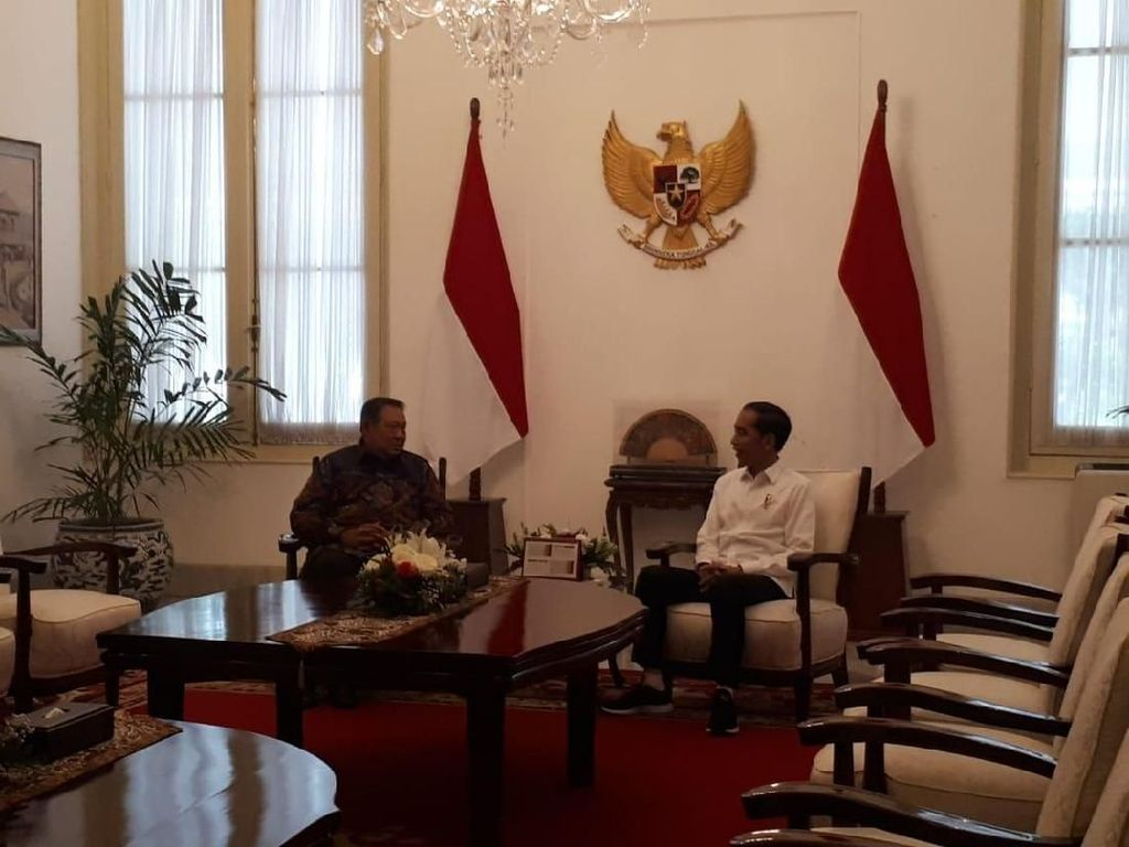 SBY Bertemu Jokowi di Istana