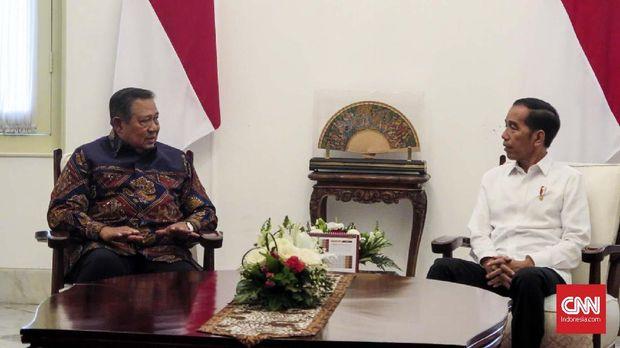 SBY saat diterima Jokowi. (