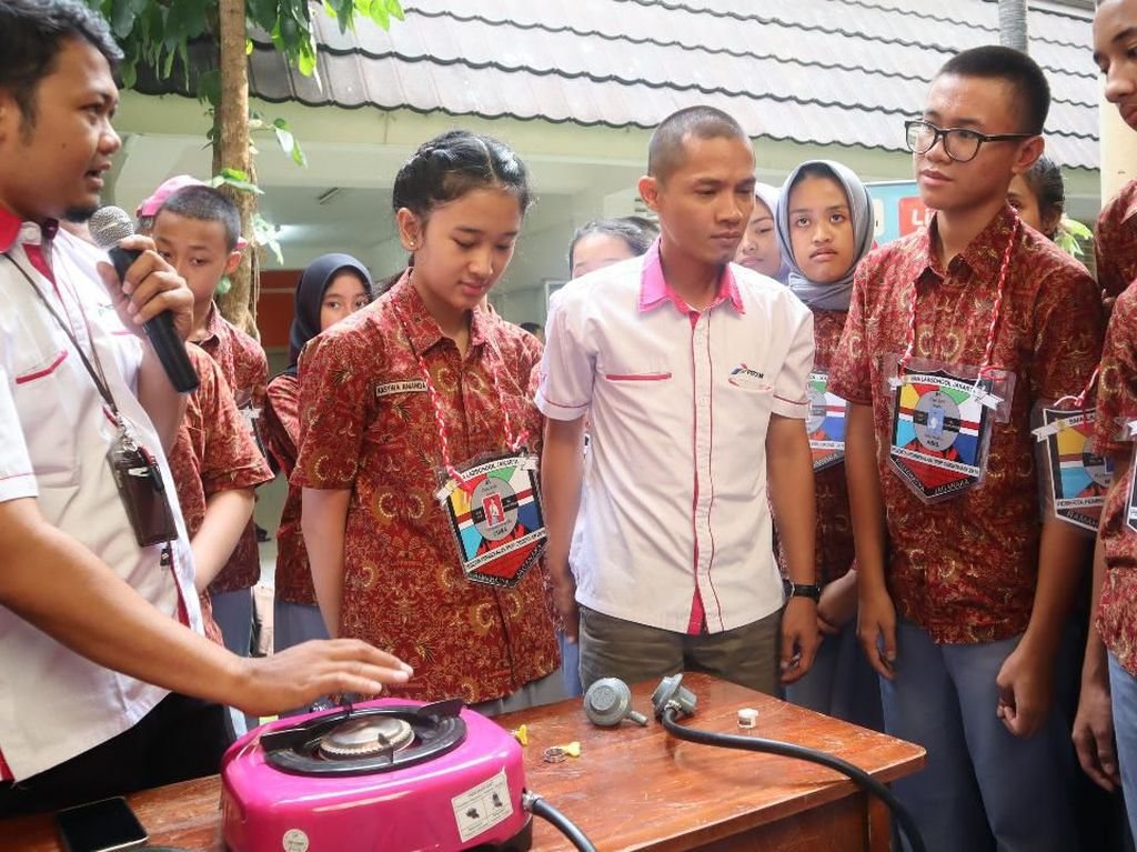 Pertamina Ajarkan Ratusan Pelajar Cara Aman Gunakan LPG