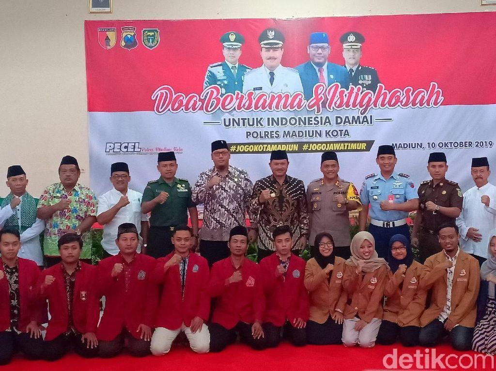 Wujudkan Indonesia Damai, Polisi dan Forkopimda Kota Madiun Gelar Istigasah