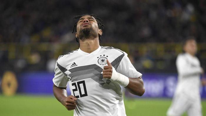 Serge Gnabry tengah tampil tajam di Timnas Jerman dan Bayern Munich (Ina FASSBENDER / AFP)