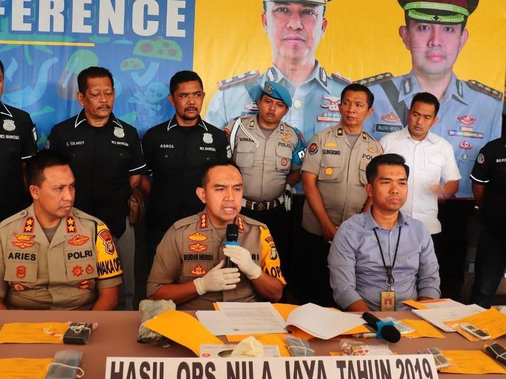 19 Pengedar Narkoba Diamankan dalam Operasi Nila Jaya, 1 Orang WN Thailand