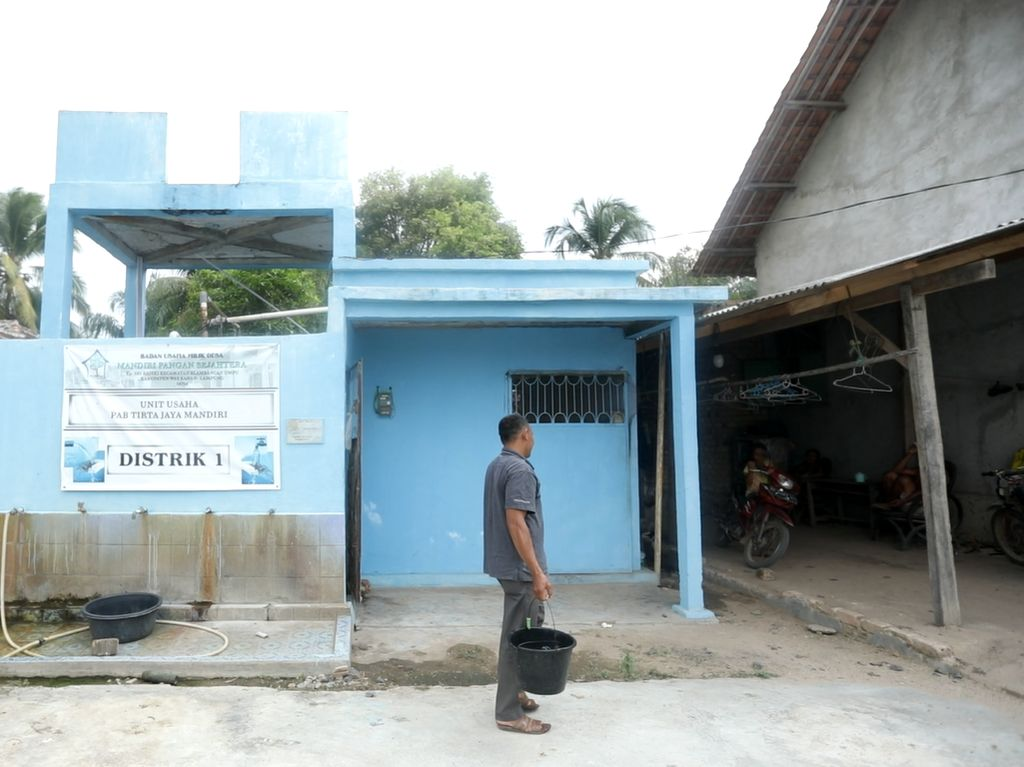 Sulit Dapat Air Bersih, Desa di Lampung Kelola Sumur Bor Lewat BUMDes