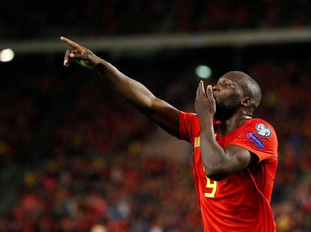Lukaku yang Pertama Capai 50 Gol di Timnas Belgia