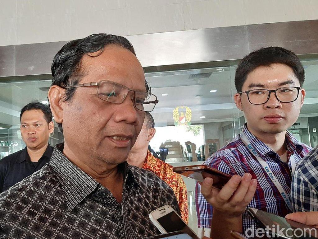 Mahfud Md Punya Gambaran Pembicaraan Pertemuan Jokowi-Prabowo Sore Ini