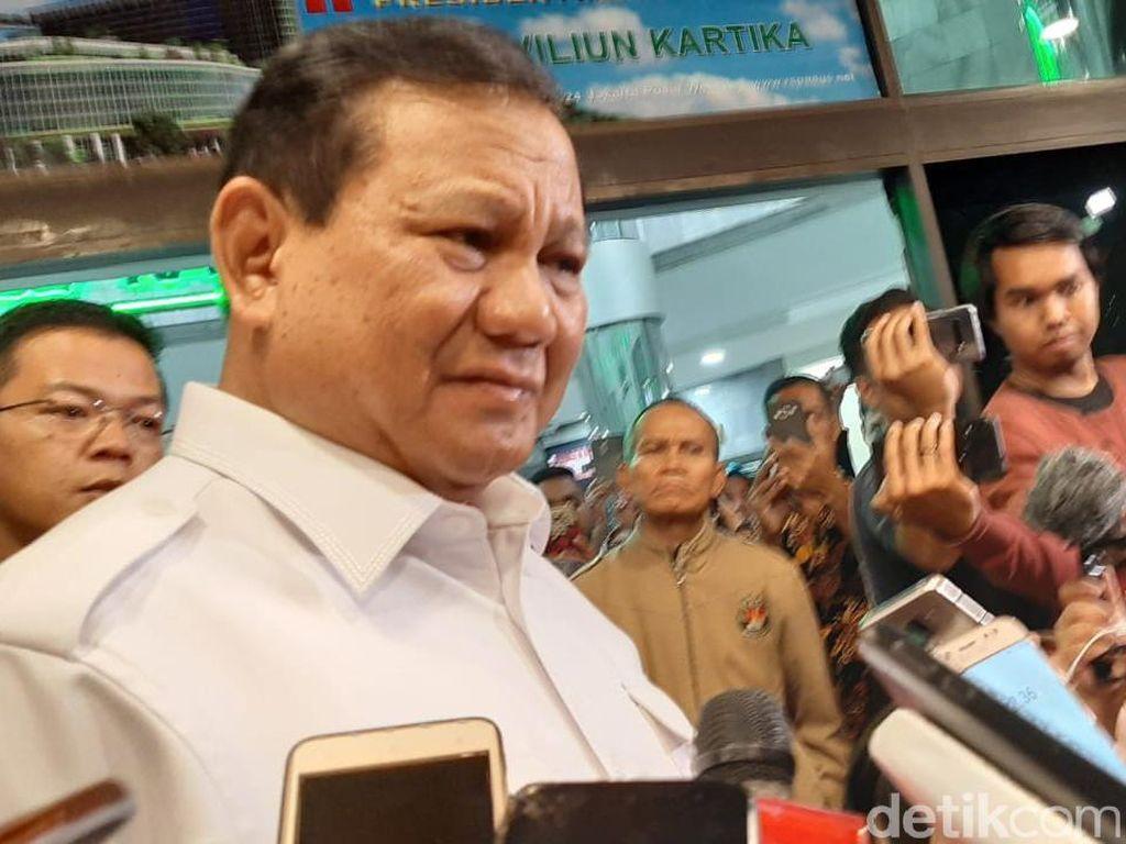 Prabowo soal Penusukan Wiranto: Saya Tak Melihat Ada Rekayasa