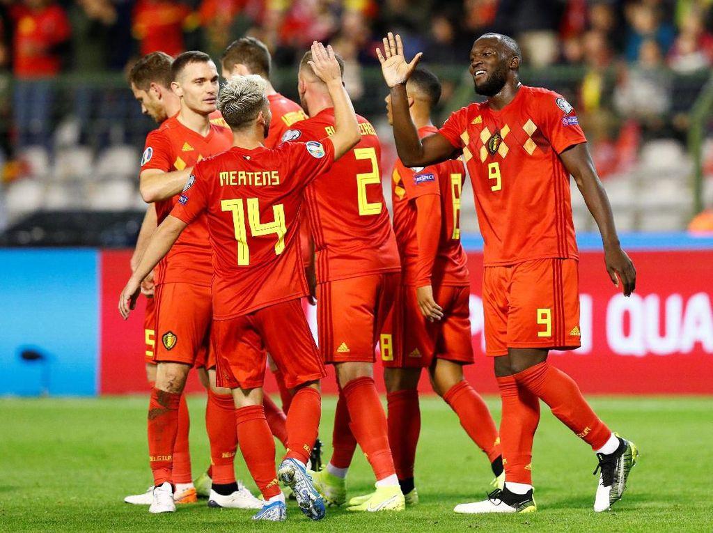 Kualifikasi Piala Eropa 2020: Belgia Lumat San Marino 9-0