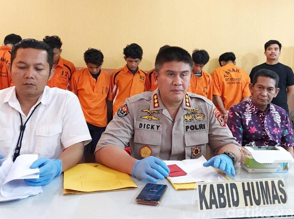 Serang Warga, 7 Anggota Geng Motor di Makassar Ditangkap Polisi