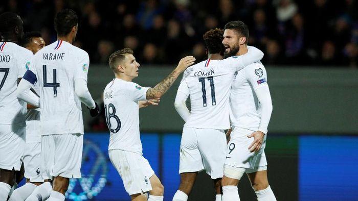 Gol tunggal Olivier Giroud antakan Prancis menang 1-0 atas Islandia (Foto: REUTERS/Gonzalo Fuentes)