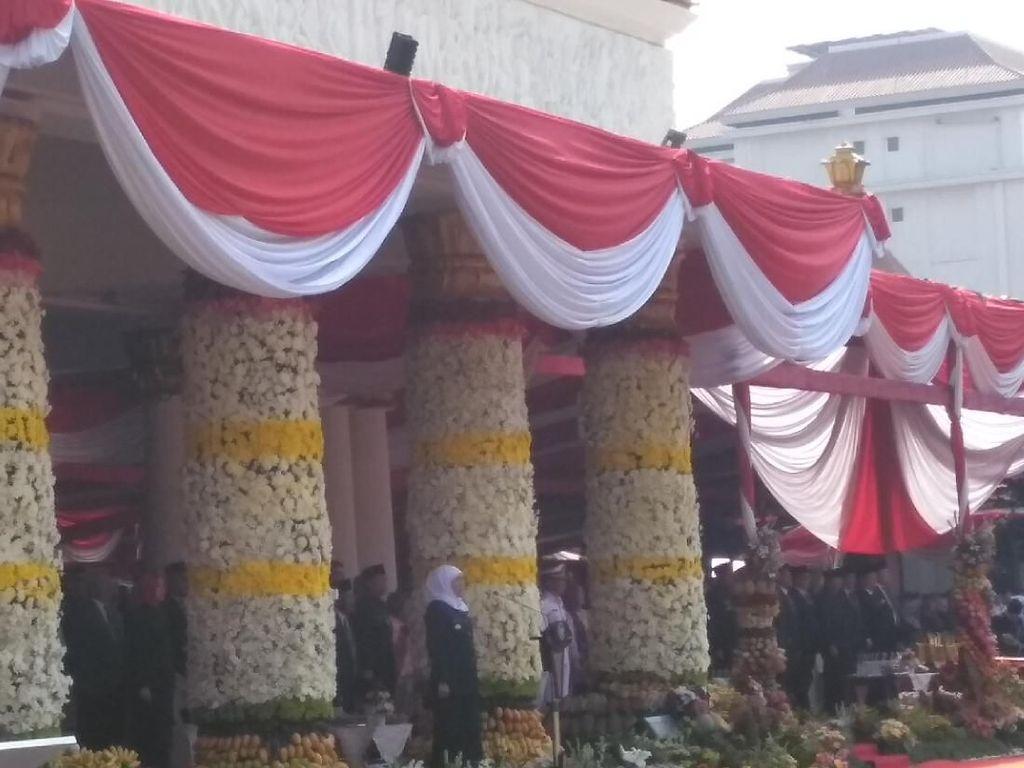 Gubernur Khofifah Pimpin Upacara Hari Jadi Provinsi Jatim