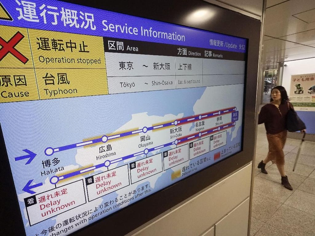 Topan Super Berlalu, Transportasi di Jepang Normal Lagi