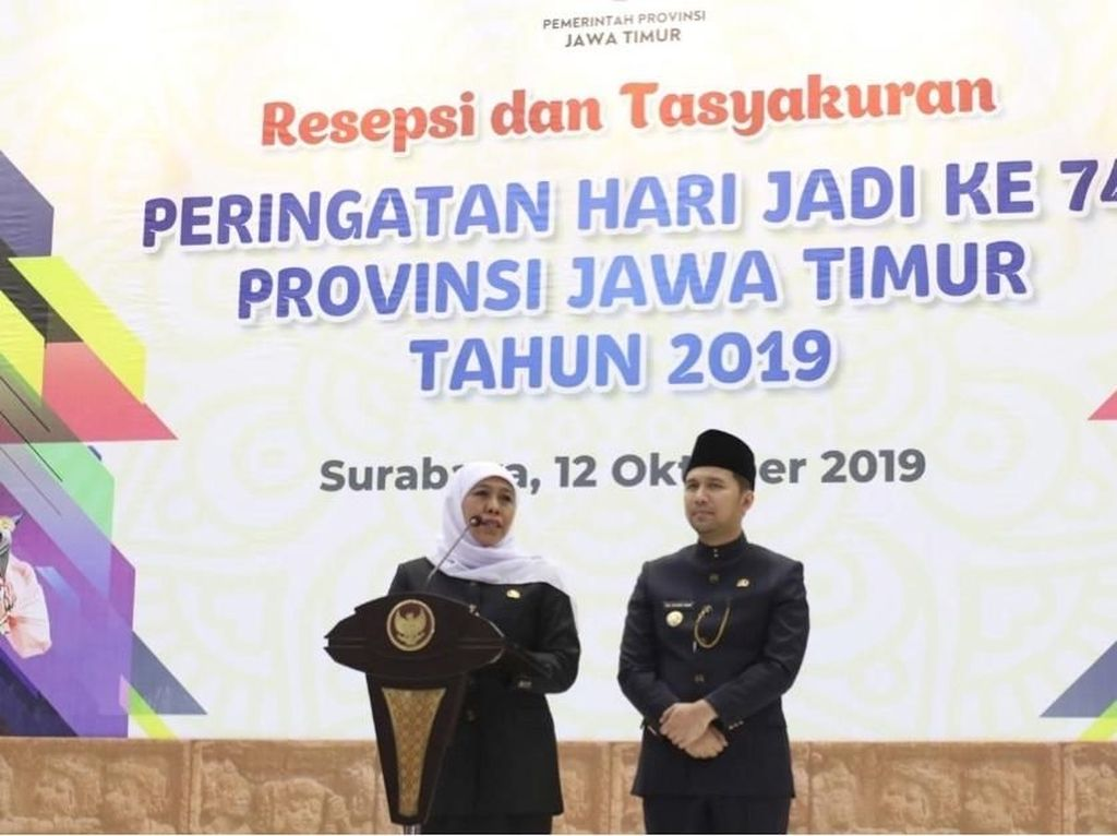 Hari Jadi Jawa Timur ke-74, Khofifah: Jatim Aman dan Kondusif