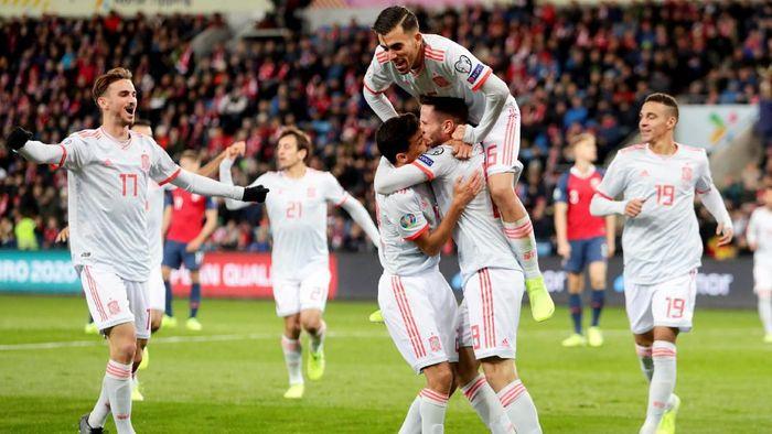 Spanyol ditahan imbang Norwegia 1-1 dalam lanjutan Kualifikasi Piala Eropa 2020 (Foto: NTB Scanpix/Tore Meek)