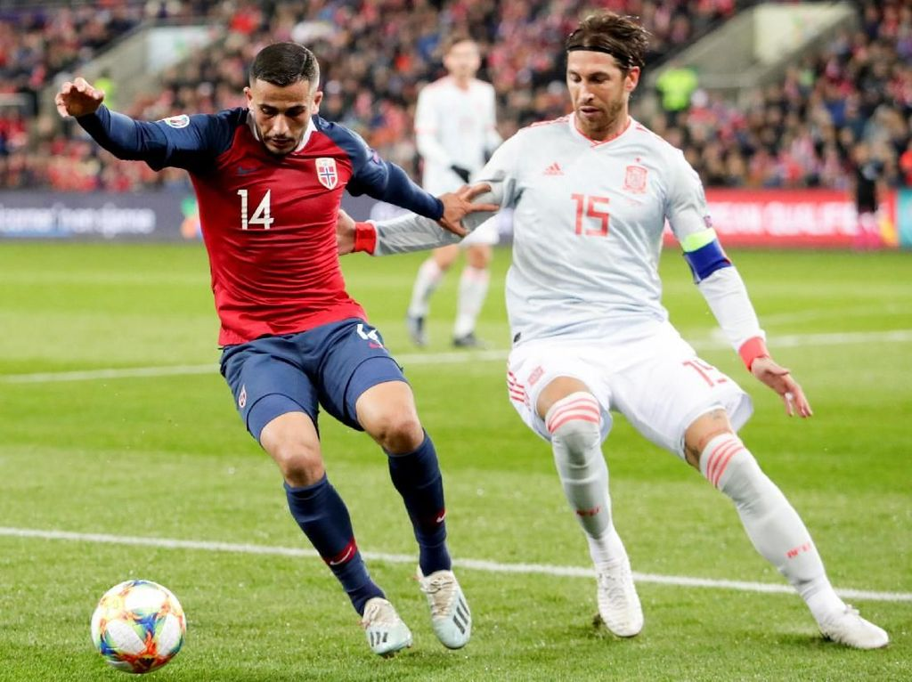 Lewati Casillas, Ramos Jadi Penampil Terbanyak di Timnas Spanyol