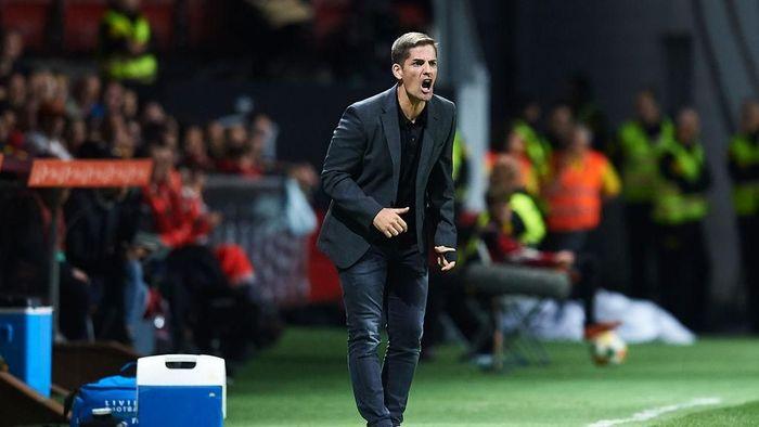 Robert Moreno menilai penampilan gugup dan penuh risiko Spanyol di menit akhir jadi sebab mereka gagal menang dari Norwegia (Foto: Juan Manuel Serrano Arce/Getty Images)