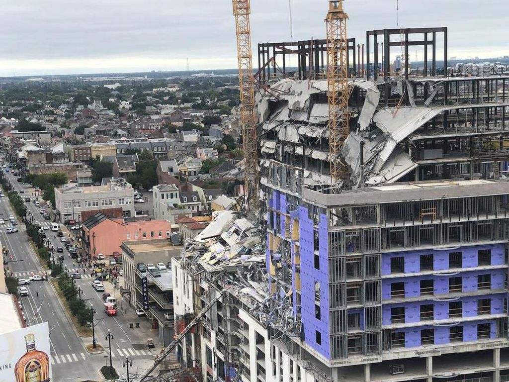 Proyek Hotel Hard Rock di AS Rubuh, 1 Tewas dan 18 Terluka