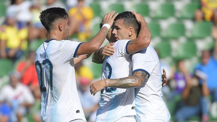 Timnas Argentina menang 6-1 atas Ekuador di laga persahabatan (JOSE JORDAN / AFP)