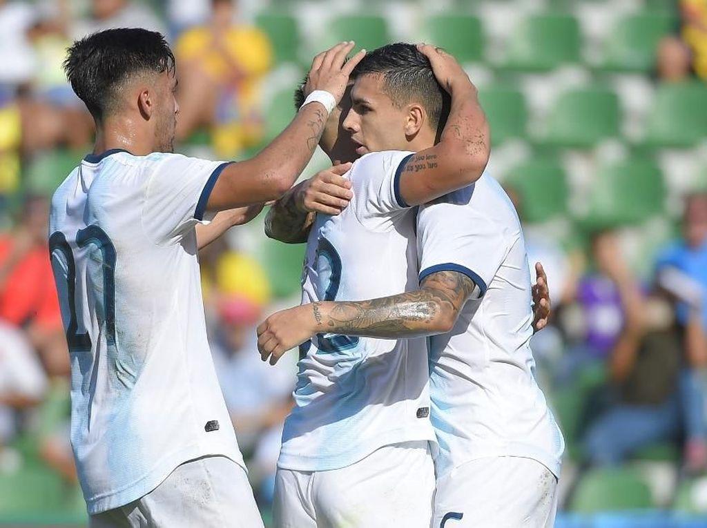 Laga Persahabatan: Argentina Gilas Ekuador 6-1