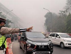 Kabut Asap Pekat, Aktivitas di Sungai Musi Tersendat
