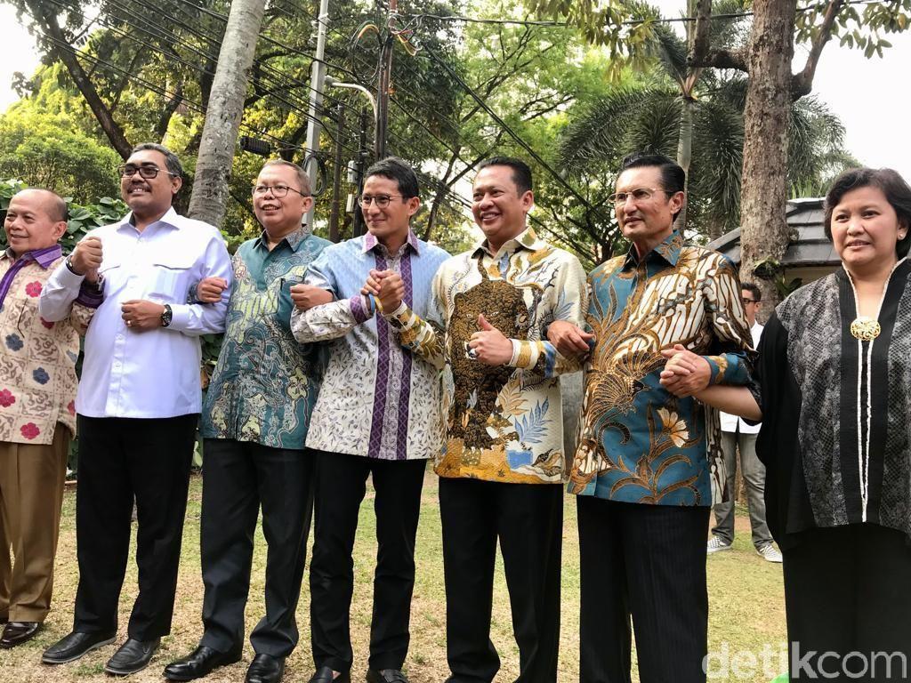 Pimpinan MPR Minta Saran Sandiaga Agar Sosialisasi 4 Pilar Sasar Milenial