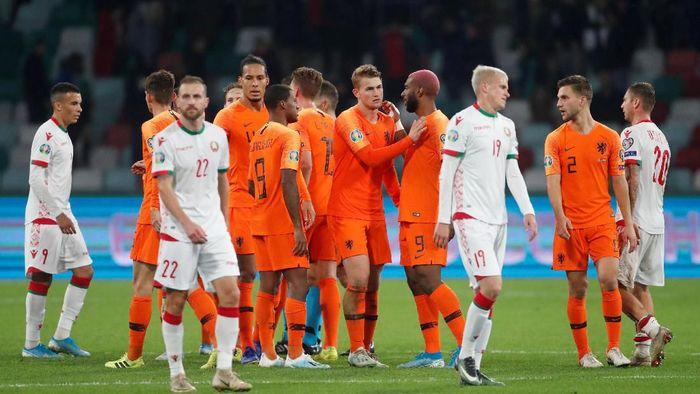 Timnas Belanda cuma butuh hasil imbang untuk lolos ke Piala Eropa 2020 (REUTERS/Vasily Fedosenko)