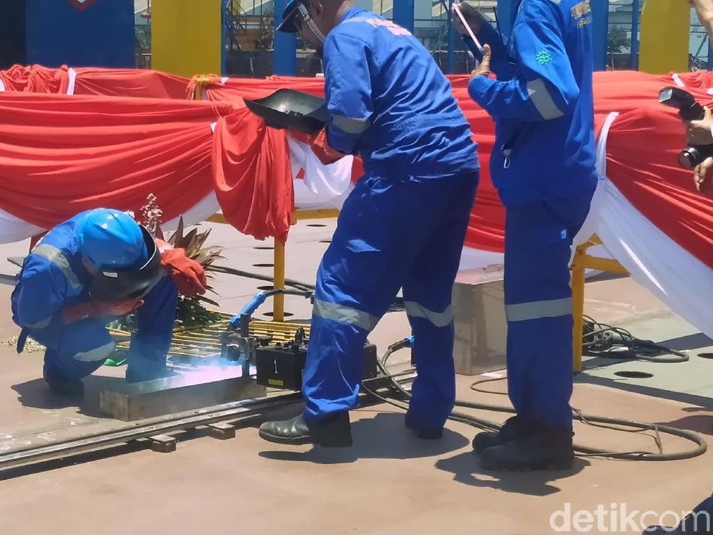 Pembangunan Kapal Rumah Sakit Pesanan TNI AL Masuki Tahap Keel Laying