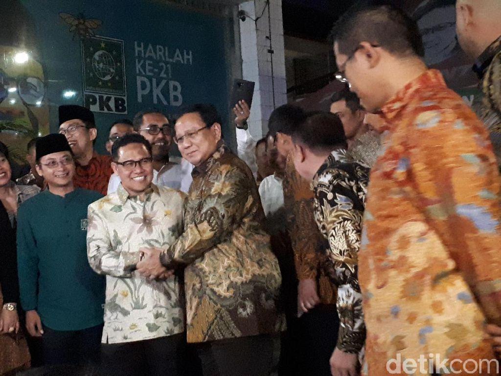 Prabowo Temui Cak Imin di Kantor DPP PKB