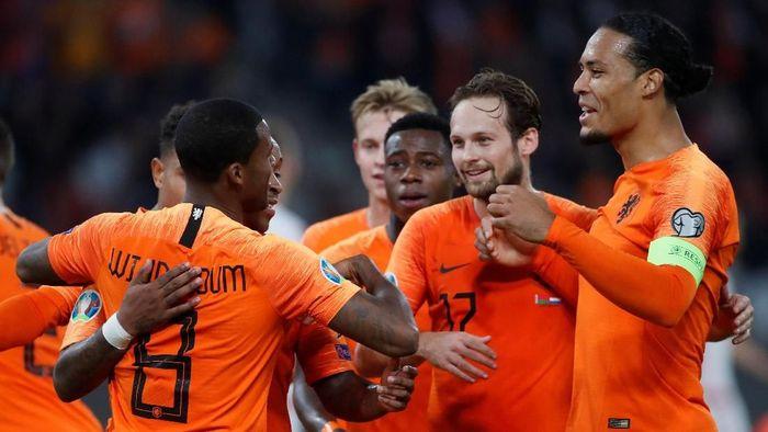 Timnas Belanda menang 2-1 di kandang Belarusia (REUTERS/Vasily Fedosenko)