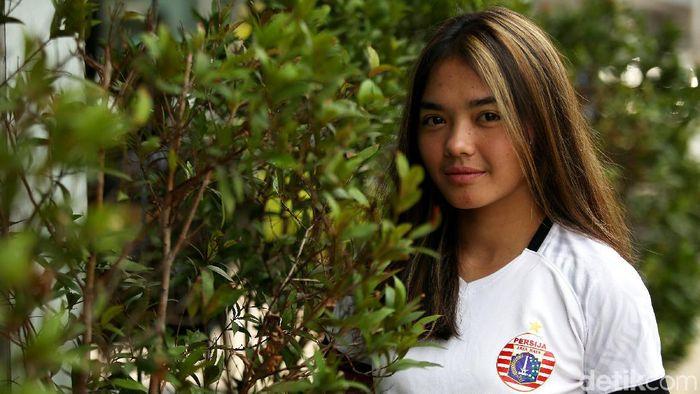 Anggita Oktaviani, pemain putri Persija Jakarta  (Agung Pambudhy/detikSport)