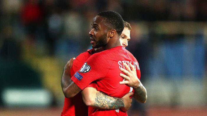 Raheem Sterling jadi salah satu pemain Inggris yang jadi korban serangan rasial dalam laga dengan Bulgaria  (Catherine Ivill/Getty Images)