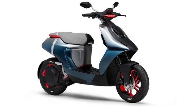 Yamaha E02 berukuran compact.