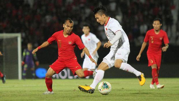 Timnas Indonesia dikalahkan Vietnam 1-3 di Bali.