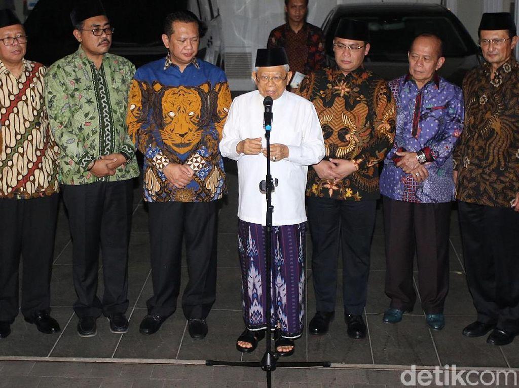 Pimpinan MPR Serahkan Undangan Pelantikan ke Maruf Amin