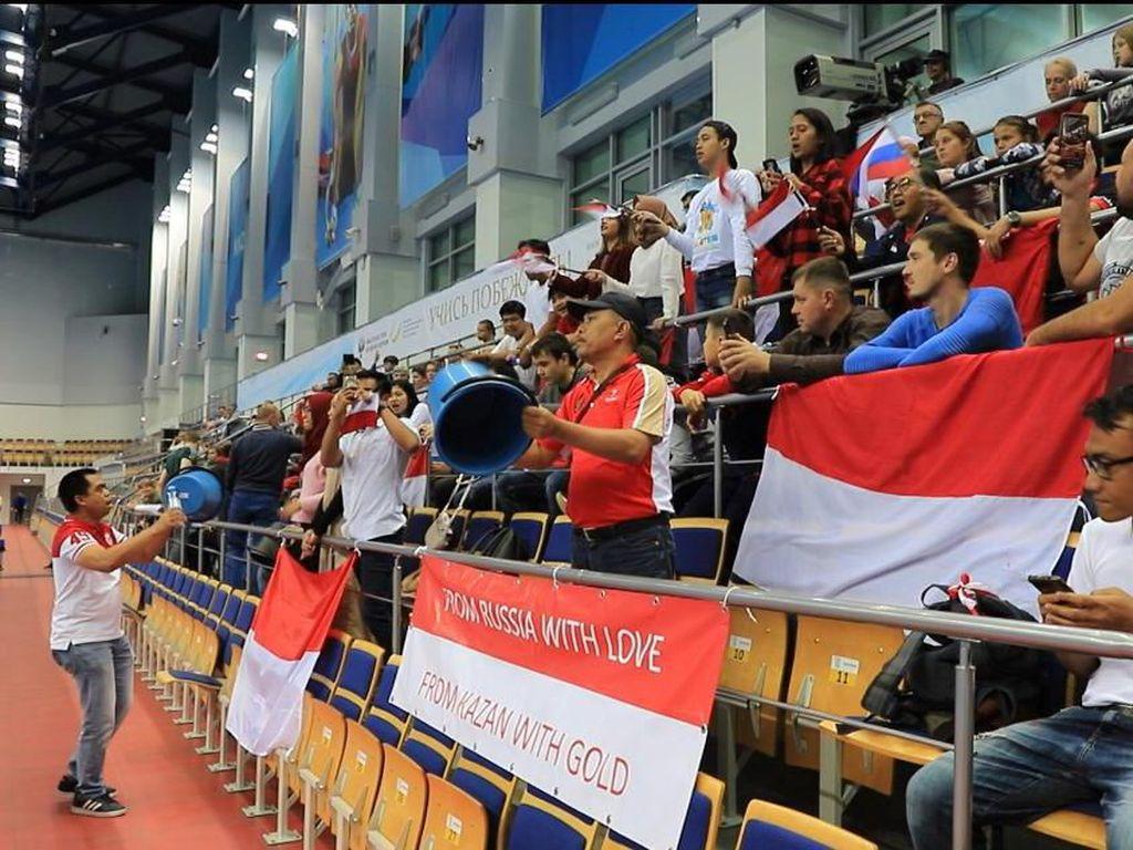 Semangat WNI di Rusia Antarkan Tim Indonesia Raih Medali di Kejuaraan Dunia