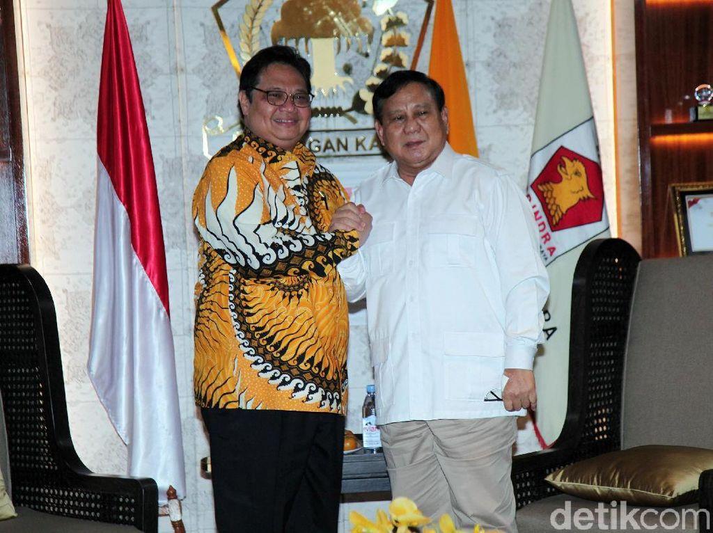 Bertemu Prabowo, Airlangga: Gerindra-Golkar Punya Banyak Kesamaan