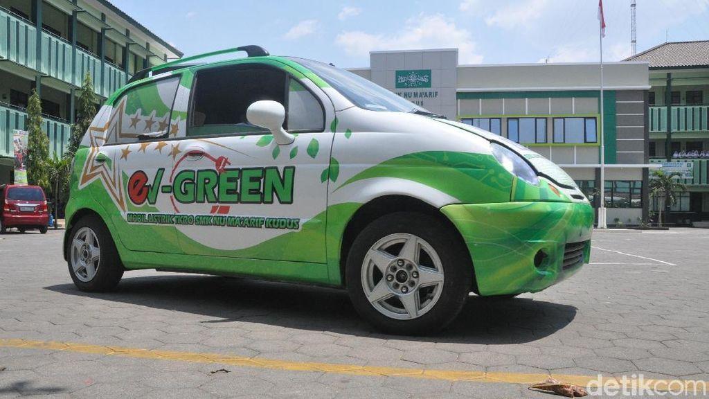 Penampakan Mobil Listrik Buatan Anak SMK Kudus