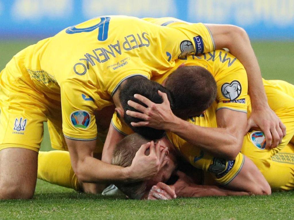 Jungkalkan Portugal, Ukraina Lolos ke Piala Eropa 2020