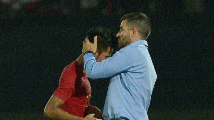 Simon McMenemy diminat meninggalkan Timnas Indonesia. (Nyoman Budhiana/Antara)