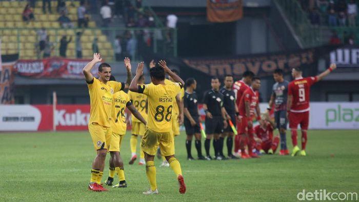 Persija jakarta usai dikalahkan Semen Padang FC menjalani laga tandang ke markas PSM Makassar. (Agung Pambudhy/detikSport)