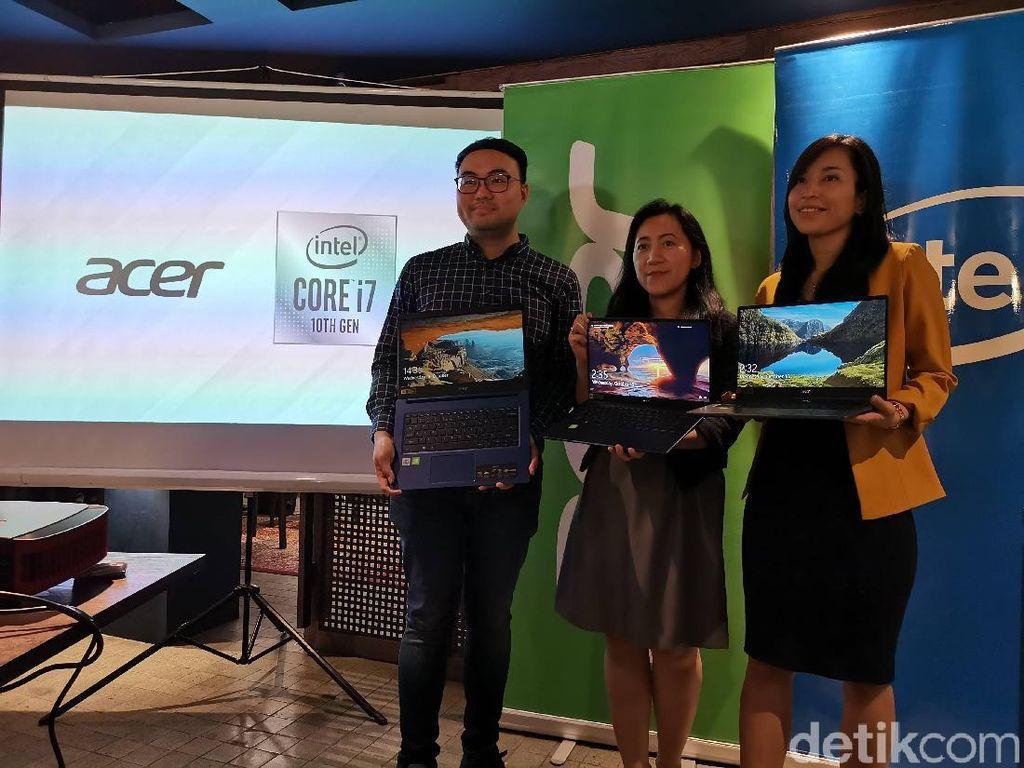 Acer Boyong Jajaran Laptop Berprosesor Intel Gen 10, Apa Saja?