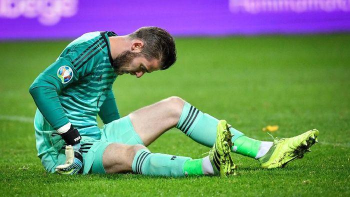 David de Gea cedera dan diragukan tampil lawan Liverpool (TT News Agency/Anders Wiklund/via REUTERS)