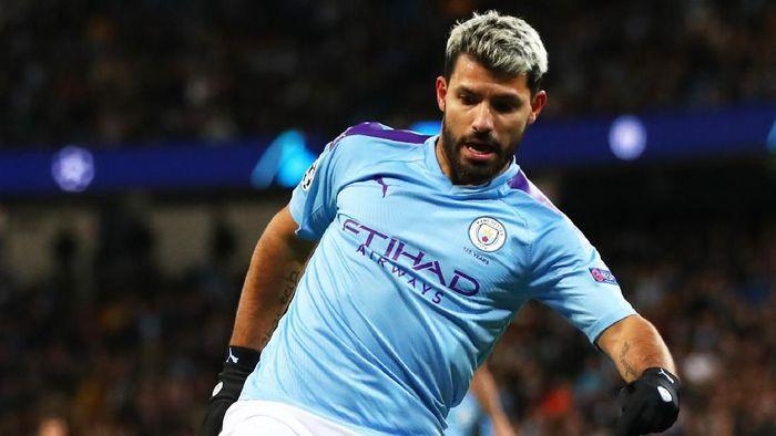 Sergio Aguero (Manchester City) mengalami kecelakaan mobil, tapi tidak cedera. (Foto: Clive Brunskill / Getty Images)