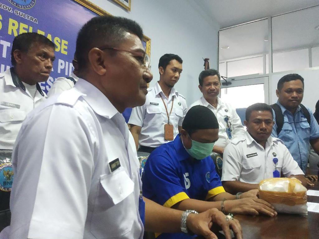 Pengedar Narkoba Jaringan Lapas Kendari Dibekuk, BNNP Sita 1,17 Kg Sabu