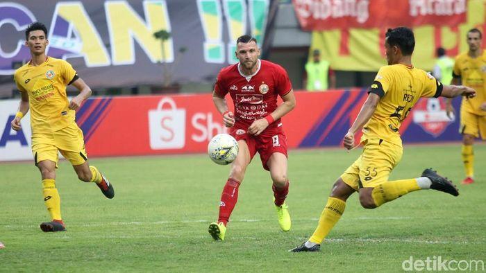 Semen Padang menjamu Persija Jakarta di lanjutan Liga 1 2019. (Foto: Agung Pambudhy/detikcom)