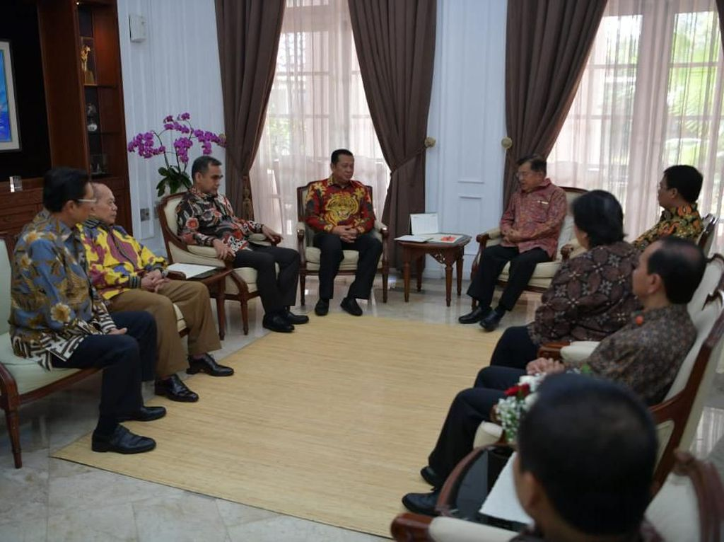 Bertemu JK, Pimpinan MPR Diminta Jaga Hubungan Antar Lembaga Negara