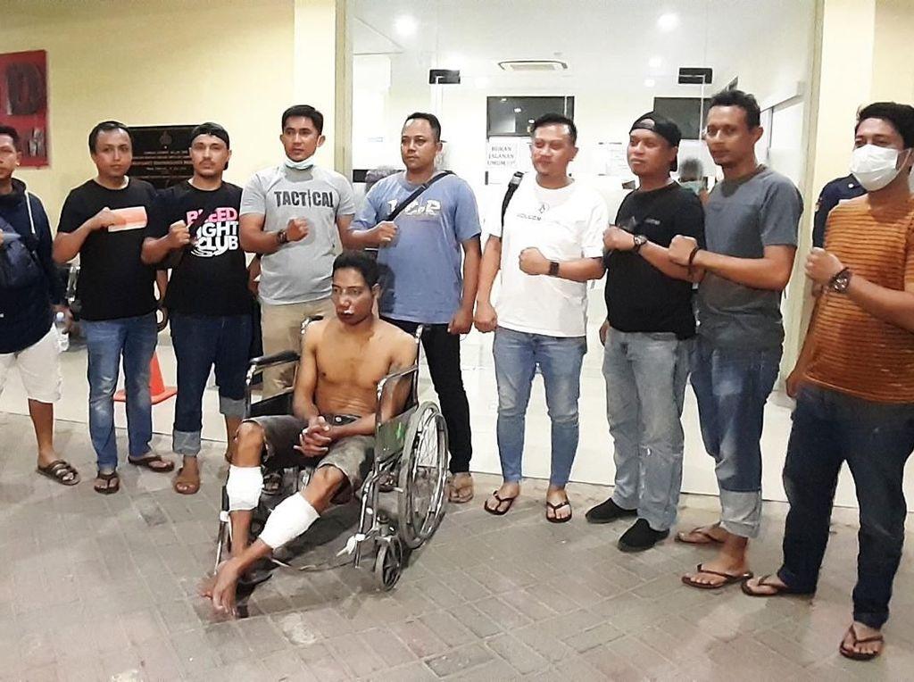Polisi Tembak Buronan Curanmor di Makassar