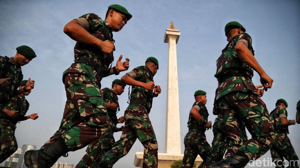 TNI-Polri Gelar Apel Pengamanan Pelantikan Presiden