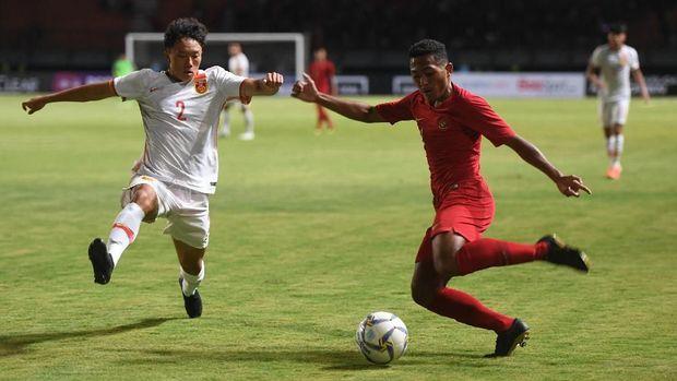 Timnas Indonesia U-19 tampil dominan lawan China.