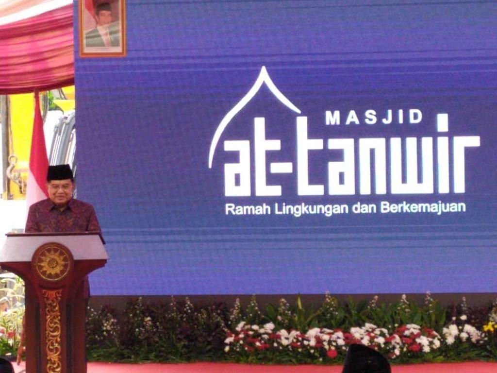 Wapres JK Letakkan Batu Pertama Pembangunan Masjid di PP Muhammadiyah